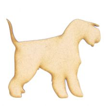 Lakeland Terrier - 3mm MDF Laser Cut Craft Blank Scrapbook Topper Pyrography